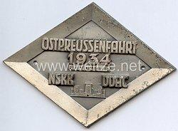 """NSKK / DDAC - nichttragbare Teilnehmerplakette - """" Ostpreussenfahrt 6.u.7. Oktober 1934 """""""