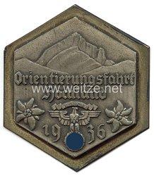 """NSKK - nichttragbare Teilnehmerplakette - """" Orientierungsfahrt Hochland 1936 """""""