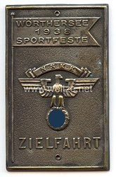 """NSKK - nichttragbare Teilnehmerplakette - """" Wörthersee 1938 Sportfeste Zielfahrt """""""