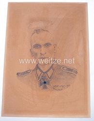 Wehrmacht Heer Portraitbild von Ritterkreuzträger Siegfried Janz
