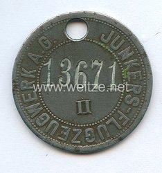 Werksabzeichen für Zivilangestellte der Junkers Flugzeug- und Motorenwerke A.G.