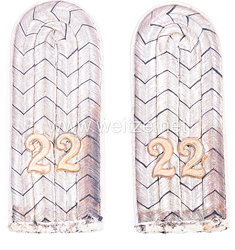 Preußen Paar Schulterstücke für einen Leutnant Infanterie-Regiment Keith (1. Oberschlesisches) Nr. 22