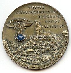 """NSKK - nichttragbare Teilnehmerplakette - """" Motorbrigade Niedersachsen - Dritte Niedersächsische Burgenfahrt 18. Juli 1937 """""""