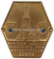 """NSKK / DDAC - nichttragbare Teilnehmerplakette - """" Ulmer Winterzuverlässigkeitsfahrt 1935 """""""