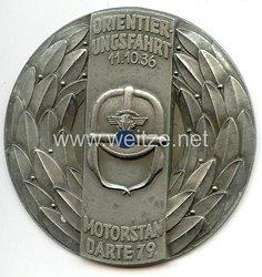 """NSKK - nichttragbare Teilnehmerplakette - """" Orientierungsfahrt 11.10.1936 Motorstandarte 79 """""""