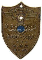 "NSKK - nichttragbare Teilnehmerplakette - "" NSKK 32/M53 Fuchsjagd 29.11.1936 """
