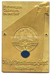 """NSKK - nichttragbare Teilnehmerplakette - """" Motorbrigade Thüringen 24. Okt. 1937 Nacht-Orientierungs-Fahrt durch den Harz """""""