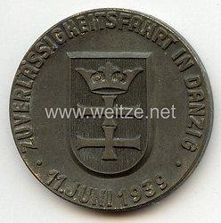 """NSKK Danzig - nichttragbare Teilnehmerplakette - """" Motorgruppe Ostland - Zuverlässigkeitsfahrt in Danzig 11. Juni 1939 """""""