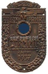 """NSKK - nichttragbare Teilnehmerplakette - """" Sternfahrt Erkelenz 23. Mai 1937 """""""