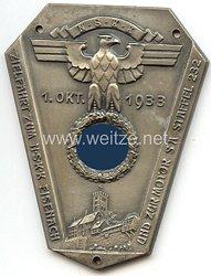 """NSKK - nichttragbare Teilnehmerplakette - """" 1. Okt. 1933 Zielfahrt zum NSKK Eisenach und zur Motor SA Staffel 232 """""""