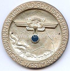 """NSKK - nichttragbare Teilnehmerplakette - """" Motorbrigade Westmark - Westerwald-Geländefahrt 24.-25.8.1935 """""""