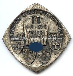 """III. Reich - Der Deutsche Automobil Club ( DDAC ) - nichttragbare Teilnehmerplakette - """" Nach den 4 Himmelsrichtungen 1937 Gau 18 Mitte """""""