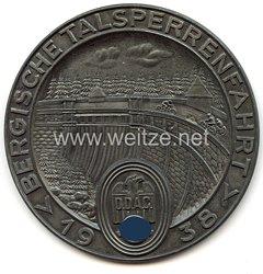"""III. Reich - Der Deutsche Automobil Club ( DDAC ) - nichttragbare Teilnehmerplakette - """" Bergische Talsperrenfahrt 1938 """""""