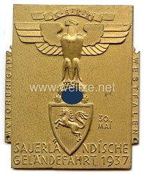 """NSKK - nichttragbare Teilnehmerplakette - """" Motorbrigade Westfalen - Sauerländische Geländefahrt 30. Mai 1937 """""""