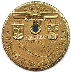 """NSKK - nichttragbare Teilnehmerplakette - """" Ostmärkische Geländefahrt 23. Mai 1937 - Start Fürstenwalden / Ziel Frankfurt/O. """""""