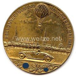"""DLV / NSKK - nichttragbare Teilnehmerplakette - """" Ballonverfolgung Hannover 24. Mai 1936 """""""