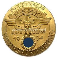 """NSKK - nichttragbare Auszeichnungsplakette - """" NSKK KWA 85/86 Wehrsport-Übung 1934 - Preisträger """""""
