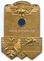 """NSKK - nichttragbare Teilnehmerplakette - """" Motorbrigade Hansa - Gelände-Orientierungs-Ostsee Küstenfahrt 26.6.1936 """""""