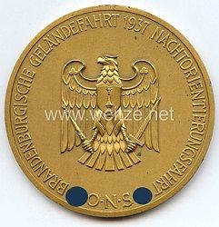 """III. Reich - O.N.S. - nichttragbare Teilnehmerplakette - """" Brandenburgische Geländefahrt 1937 Nachtorientierungsfahrt """""""