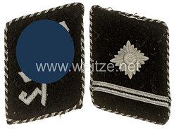 SS-Verfügungstruppe Paar Kragenspiegel für einen SS-Scharführer bzw. SS-Standartenjunker der SS-Schule Tölz
