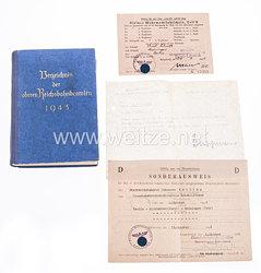 III. Reich - Deutsche Reichsbahn - Verzeichnis der oberen Reichsbahnbeamten 1943