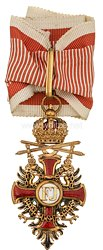 Österreich K. u. K. Monarchie Franz-Joseph Orden Komturkreuz mit Kriegsdekoration und Schwertern