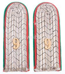 Preußen Paar Schulterstücke für einen Leutnant im Jäger-Regiment zu Pferde Nr. 9