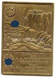 """NSKOV - nichttragbare Teilnehmerplakette - """" Zielfahrt der N.S.Kriegsopferversorgung nach Bad Reichenhall 20. Aug. 1933 """""""
