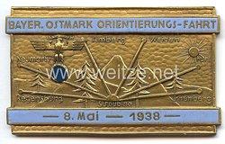"""NSKK - nichttragbare Teilnehmerplakette - """" Bayer. Ostmark Orientierungs-Fahrt 8. Mai 1938 """""""