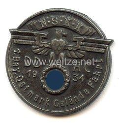 """NSKK / DDAC - nichttragbare Teilnehmerplakette - """" NSKK DDAC 1. Bay. Ostmark Gelände Fahrt 1934 """""""