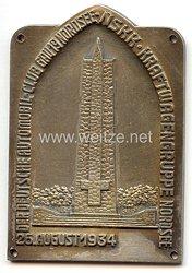 """NSKK / DDAC - nichttragbare Teilnehmerplakette - """" Der Deutsche Automobil-Club Gau 19 Nordsee - NSKK Kraftwagengruppe Nordsee 26. August 1934 """""""