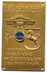 """NSKK - nichttragbare Teilnehmerplakette - """" Motor-Brigade Westfalen - Sauerländische Geländefahrt 10. Mai 1936 """""""