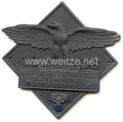 """NSKK - nichttragbare Teilnehmerplakette - """" Motorstandarte 29 Nachtorientierungsfahrt 26./27. November 1938 """""""