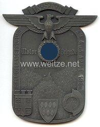 "NSKK - nichttragbare Teilnehmerplakette - "" Motor-Brigade Westmark Eifel Geländeprüfung am 4.u.5. April 1936 Nürburg-Ring """