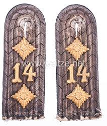 Preußen Paar Schulterstücke für einen Rittmeister im Kurmärkischen Dragoner-Regiment Nr. 14