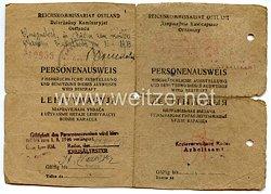III. Reich / Reichskommissariat Ostland - Personenausweis für einen Mann des Jahrgangs 1916