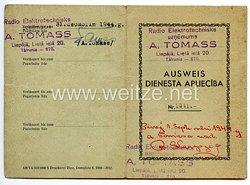 III. Reich / Lettland - Radio Elektrotechnisks - Dienst Ausweis für einen Mann