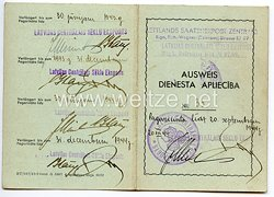 III. Reich / Lettland - Lettlands Saatenemport Zentrale - Dienst Ausweis für eine Frau