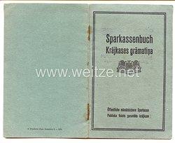III. Reich / Lettland - Rigaer Stadtsparkasse - Sparkassenbuch