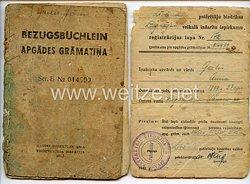 III. Reich / Lettland - Handelsdirektion Riga - Bezugsbüchlein für einen Jungen des Jahrgangs 1926