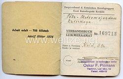 III. Reich / Estland - Hauptverband der estnischen Berufsgruppen - Verbandsbuch