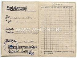 III. Reich / Weißrussland - Deutsche Sportgemeinschaft Minsk - Spielerpaß für einen Mann des Jahrgangs 1913