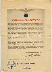 Generalkommissar in Riga/Lettland Gebietskommissar Dünaburg - Eigentümerurkunde und Einweisungsformular für einen Mann