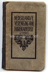 III. Reich / Holland - Nederlandse Vereniging van Fabrieksarbeiders/sters ( N.V.F.A.) - Mitgliedsbuch