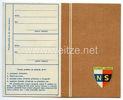 III. Reich - Tschecheslowakei - Narodni Sourucenstvi ( NS ) - Mitgliedsausweis für eine Frau