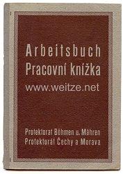 III. Reich - Protektorat Böhmen und Mähren - Arbeitsbuch für eine Frau des Jahrgangs 1898