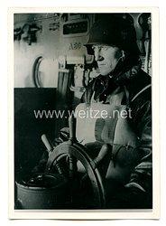 Kriegsmarine Pressefoto, der Gefechtsrudergänger 7.6.1944