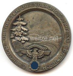"""NSKK - nichttragbare Teilnehmerplakette - """" Motorbrigade Hochland - Oberbayer. Orientierungsfahrt 1935 """""""