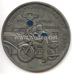 """NSKK - nichttragbare Teilnehmerplakette - """" 1. Orientierungsfahrt 1937 der Motor-Standarte 78 """""""