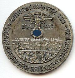 """NSKK - nichttragbare Teilnehmerplakette - """" Motorstandarte 233 2. Ostsächsischer Gelände Wettbewerb 29.9.1935 """""""